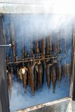 Fish in the smokehouse Stock Photo