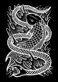 Fish Snake Art Illustration royalty free illustration