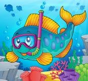 Fish snorkel diver theme image 2 Royalty Free Stock Photos