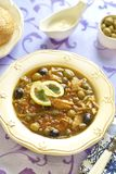 Fish solyanka with capers and olives. Fish solyanka with capers, olives and lemon Stock Photo