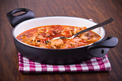 Fish soup. Detail of a fish soup Royalty Free Stock Photography