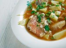 Fish soup Aljotta. Aljotta - Maltese traditional fish soup Stock Photo