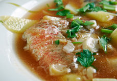Fish soup Aljotta Royalty Free Stock Photo