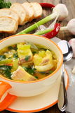Fish soup in a bowl. Stock Images