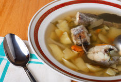 Fish soup in a bowl Royalty Free Stock Photos