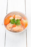 Fish soup in bowl Stock Photography