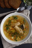 Fish soup with burbot Royalty Free Stock Images