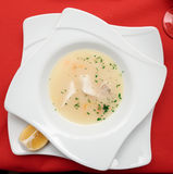 Fish soup cooked in mediterranean style Stock Images