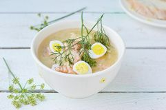 Fish soup with eggs Stock Photography