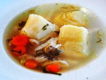 Fish soup in Kallithea Halkidikis Royalty Free Stock Photo