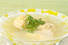 Fish soup with meatballs Stock Photography