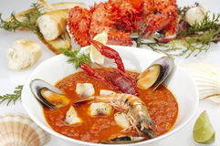 Fish soup Minestrone Royalty Free Stock Photography