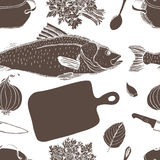 Fish soup pattern Royalty Free Stock Photography