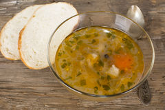 Fish soup peasant with a quenelle Royalty Free Stock Image