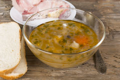 Fish soup peasant with a quenelle Royalty Free Stock Photos