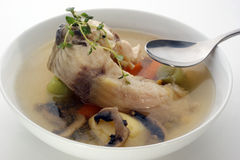 Fish soup with potato and mushroom Stock Photography