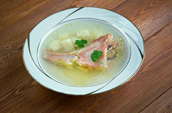 Fish soup with red grouper Royalty Free Stock Image