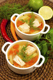 Fish soup from salmon Stock Image