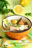 Fish soup from sea perch. Stock Image