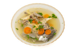Fish soup with sturgeon Royalty Free Stock Photography