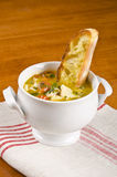 Fish Soup with Toasted Ciabatta Bread #2 Stock Photo