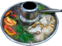 Fish soup, Tom Yum Fish Stock Image