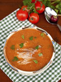 Fish soup. With tomato juice Stock Photo