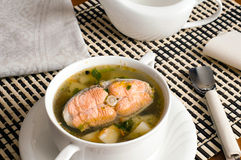 Fish soup with  trout Royalty Free Stock Images