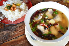 Fish soup Thai Style (Tom Yum) Royalty Free Stock Image