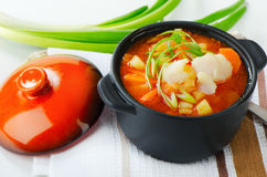 Fish Soup with  vegetables Royalty Free Stock Images
