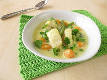 Fish soup with vegetables Royalty Free Stock Photo