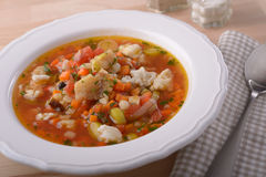 Fish soup Stock Image