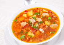 Fish soup with vegetables Royalty Free Stock Image