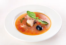 Fish soup vith vegetable Royalty Free Stock Photo