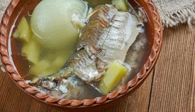 Fish soup with whitefish. close up Royalty Free Stock Photos