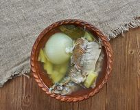 Fish soup with whitefish. close up Stock Photos