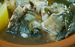 Fish soup with whitefish Stock Images