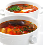 Fish Soups. With Vegetable and Herbs stock photography