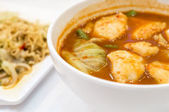 Fish and sour soup made of tamarind paste Royalty Free Stock Image