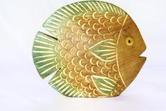 Fish souvenir. Wooden fish souvenir from Thailand Stock Photo