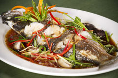 Fish soy sauce Royalty Free Stock Photography
