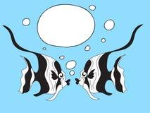 Fish Speech Bubbles. Cute Fish with Speech Bubbles Stock Images