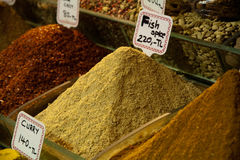 Fish spices on market Royalty Free Stock Image