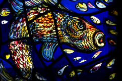 A fish in stained glass Stock Photo