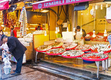 The fish stall Stock Image