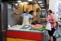 Fish stall, Malaga, Spain. Stock Photos