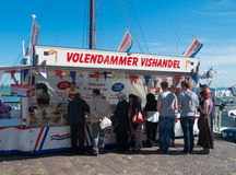 Fish stall in volendam Royalty Free Stock Image