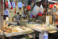 Fish stalls Royalty Free Stock Images