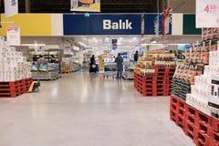 Fish station at Metro Cash and Carry hypermarket. Mersin, Turkey - December 2020