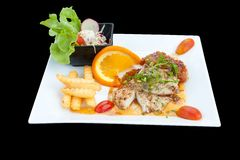 Fish steak Stock Images
